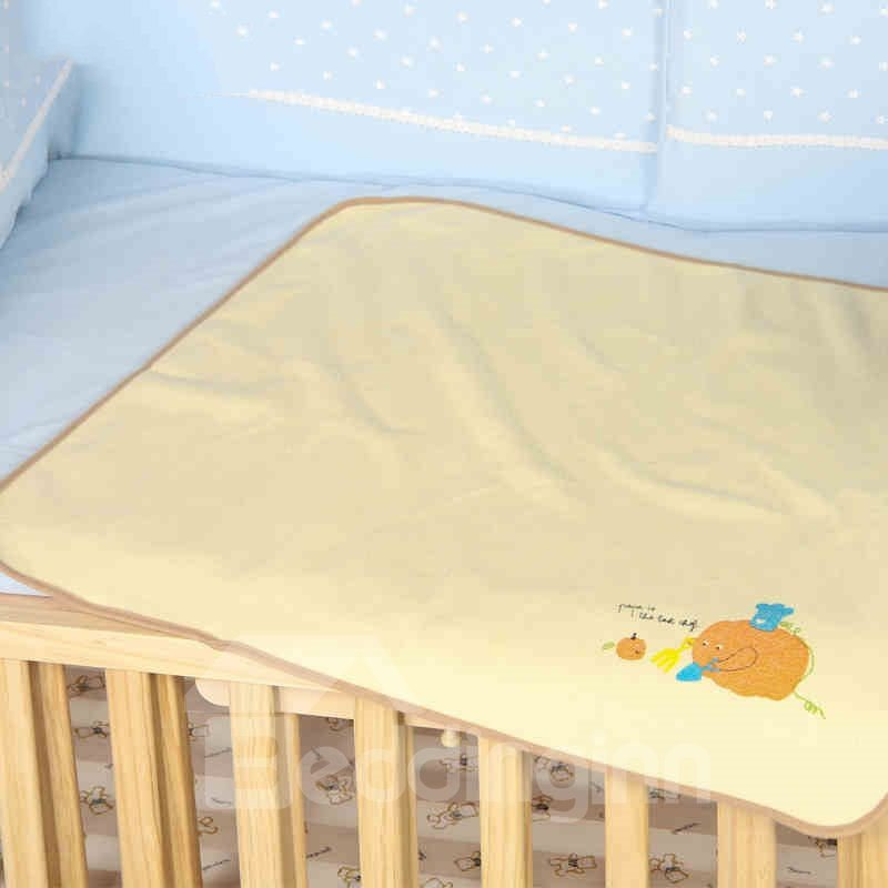 Novel Elephant Pumpkin Printing Yellow Baby Blanket