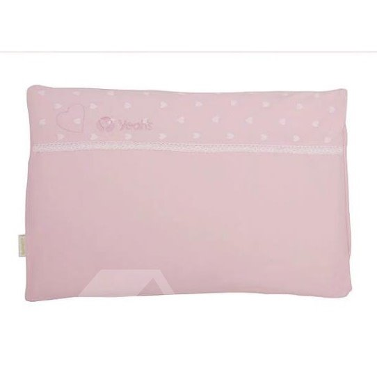 Sweet Little Heart Lace Pink Baby Pillow
