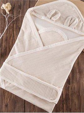 Super Comfortable Twill Stripes Beige Baby Sleeping Bag