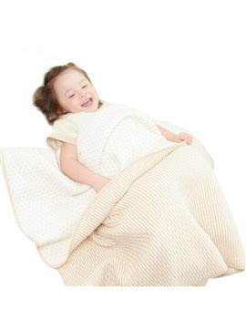 Super Soft and Comfortable Dots Lining Stripes Pattern Baby Blanket