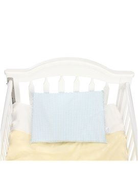 High Quality Cozy Blue Checks Baby Pillow