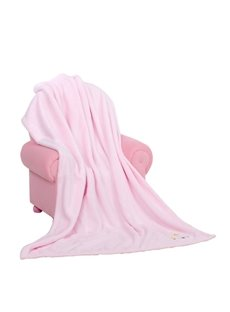Beautiful Floral Printing Cozy Pink Baby Blanket