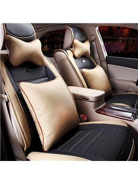 Elegant Design Combination of Two Colors Feather Material Car Seat Cover
