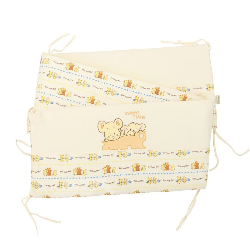 Fancy Naughty Mouse Printing 7-Piece Crib Bedding Sets