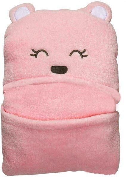 Stylish Hooded Swaddle Coral Velvet Baby Sleeping Bag