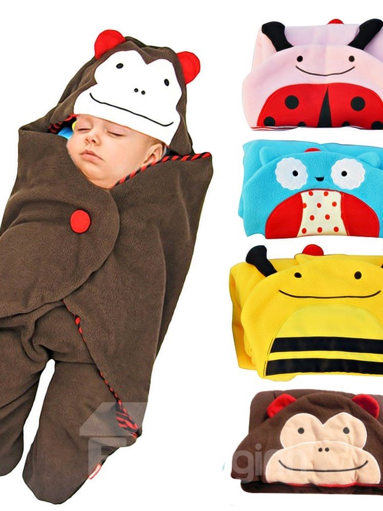 Stylish Cartoon Animal Design Cotton Baby Sleeping Bag