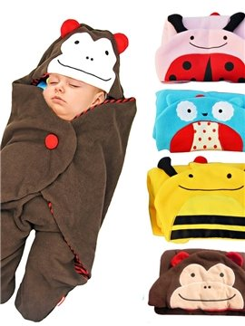 Stylish Cartoon Animal Design Cotton Baby Sleeping Bag