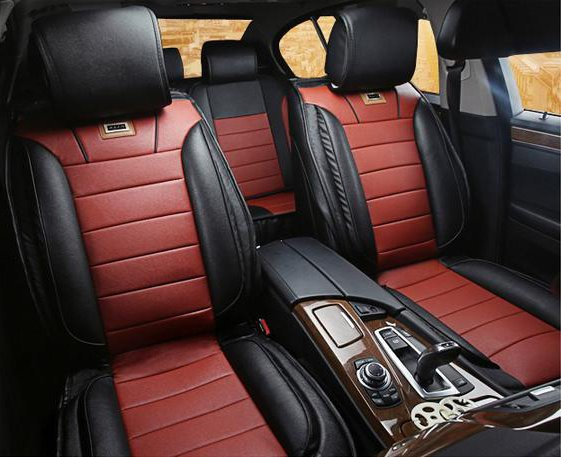 classic sport leather material contrast color car seat cover. Black Bedroom Furniture Sets. Home Design Ideas