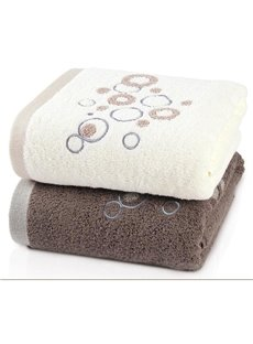 Concise Raindrop Pattern Full Cotton Bath Towel