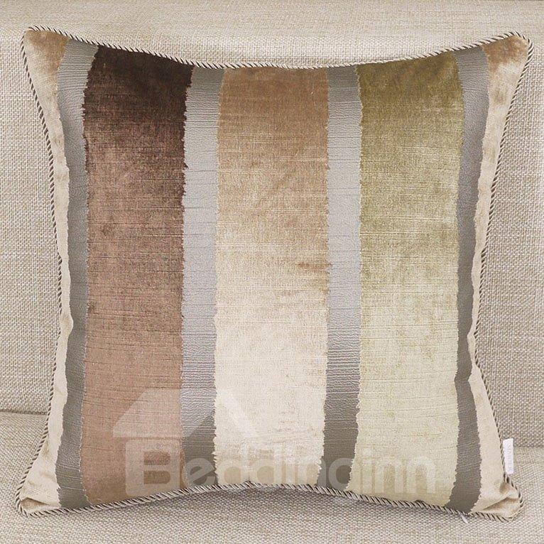 European Style Dark Gold Color Stripes Throw Pillow - beddinginn.com