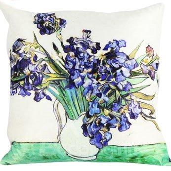 Popular Purple Flower-De-Luce Painting Throw Pillow