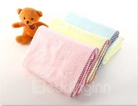 Fluffy Adorable Bear Pattern Bath Towel for Baby