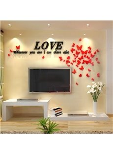 Romantic Houseful Crystal Three-Dimensional Wall Stickers