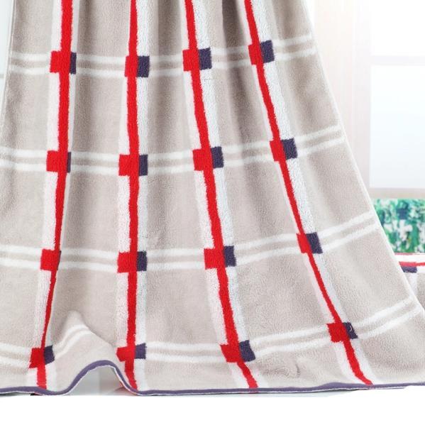 Fancy Fluffy Soft Stripe Pattern Bath Towel