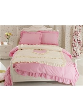 New Arrival Korean Style Elegant 100% Cotton Duvet Cover Sets