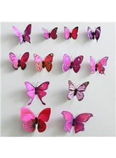 Modern Design Beautiful and Cute Butterfly 6-Piece with Pin Butterflies Decoration