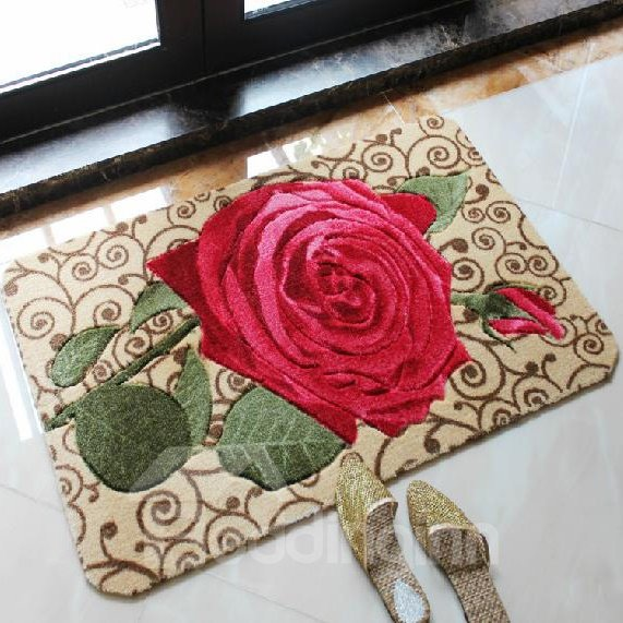 High Quality Wonderful Pretty Rose Closeup Doormat