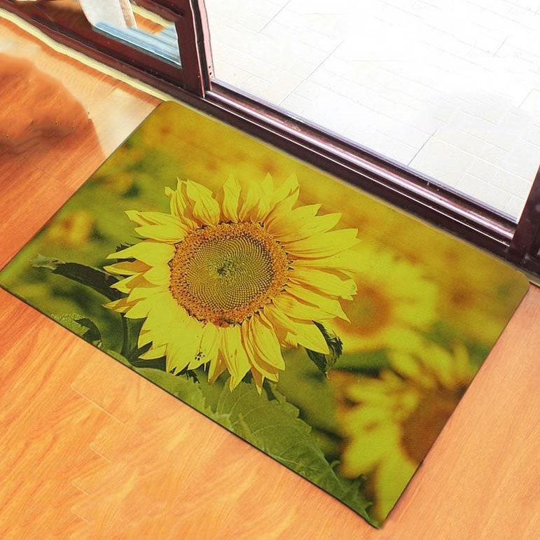 Super Fashion Wonderful Sunflower Pattern Doormats