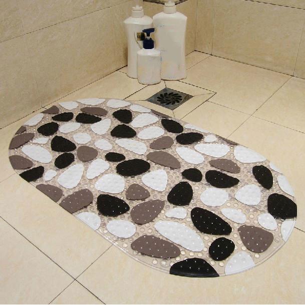 Unique Bathroom Rugs: Unique Cobblestone Pattern PVC Skidproof Bath Rug