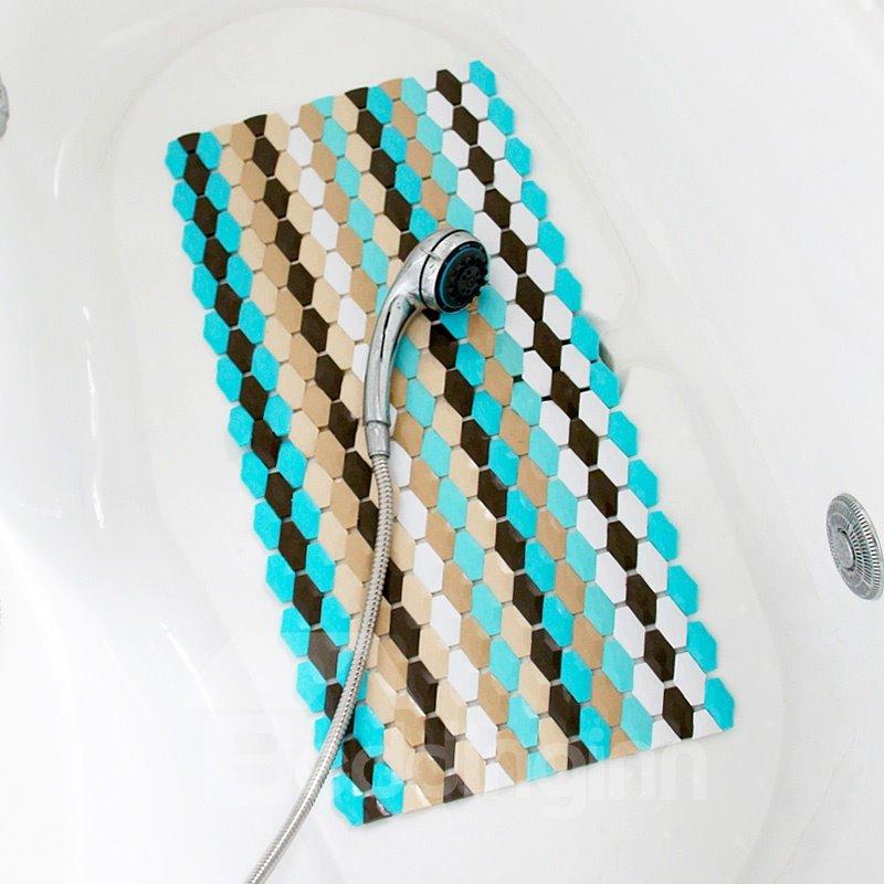 Unique Bathroom Rugs: Fashion Contemporary Unique Geometric Pattern Bath Rug