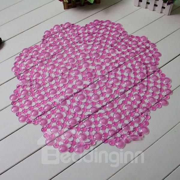 Novel Floral Design PVC Skidproof Bath Rug