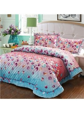 Wonderful Beautiful Colorful Leaves Pattern Bed in a Bag Set
