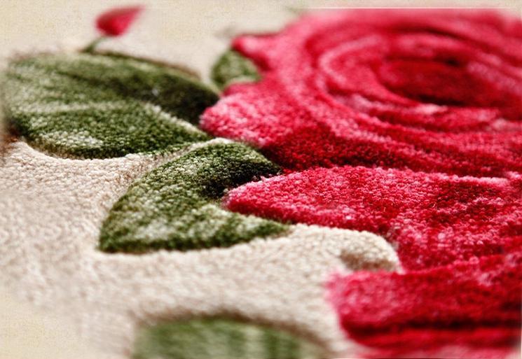 Wonderful Warm Fiber Three-Roses Pattern Decorative Doormat