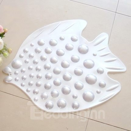 Adorable bubble fish design skidproof bath rug for Fish bath rug