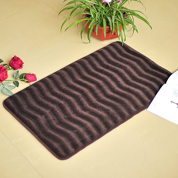 Unique Comfy Wave Pattern Suede Bath Rug Beddinginn Com