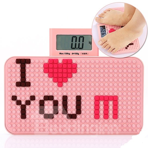 Novel Sweet Love Pattern DIY Mini Weight Scale