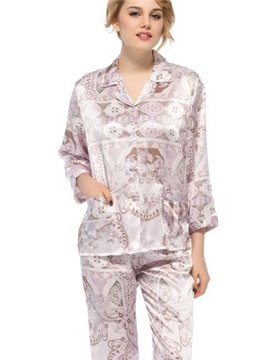 Best Selling Wonderful Two Handy Pockets Silk Pajamas