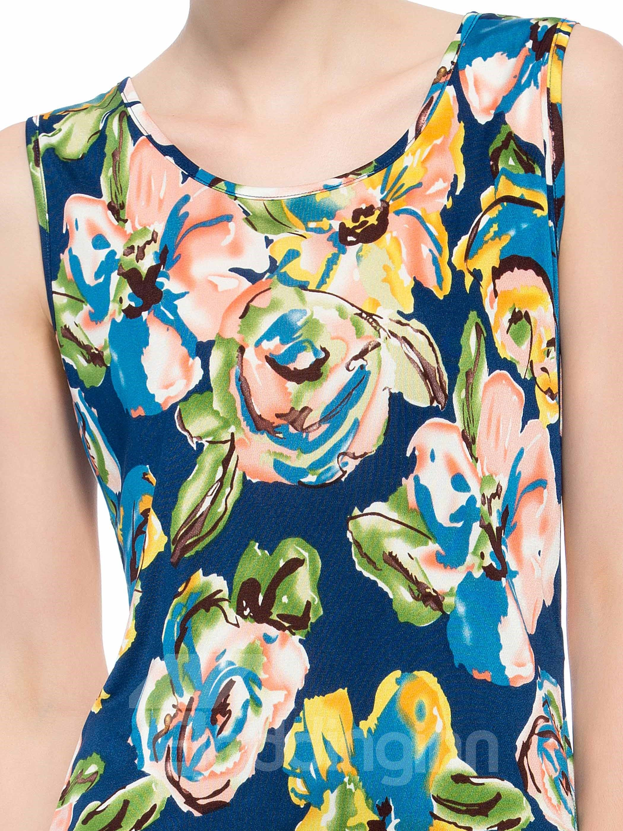 Top Quality Wonderful Flowers Print Silk Camisole