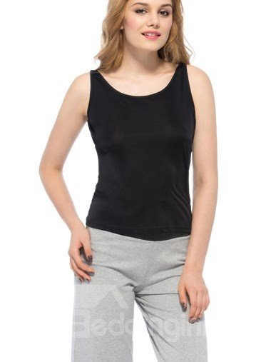 Top Quality Wonderful Greaceful Black Silk Camisole ...