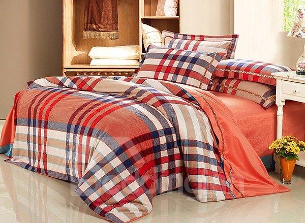 Orange Duvet covers Ruffle Valance 1000TC Egyptian Cotton ...  Orange Duvet Cover
