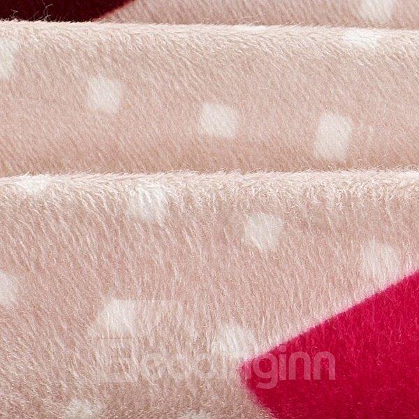 Unique Puzzle Pattern 4-Piece Flannel Duvet Cover Sets