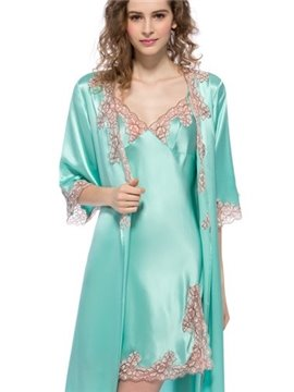 New Arrival Wonderful Mulberry Silk Robe Set