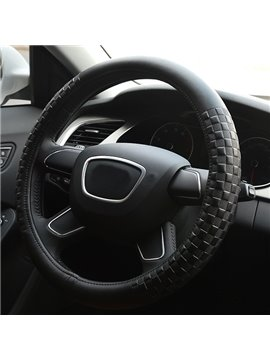 Super Soft and Comfortable Solid Color Squares Pattern Steering Wheel Covers