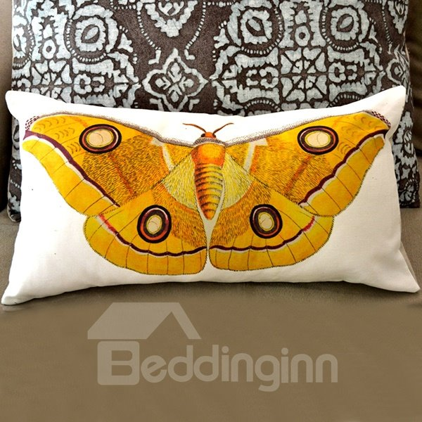 Soft Yellow Decorative Pillows : Big Yellow Butterfly Pattern Super Soft Throw Pillow - beddinginn.com