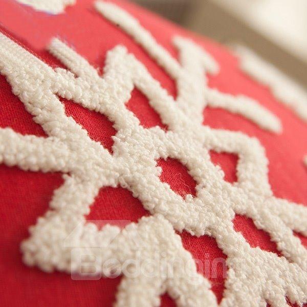 Joyous Christmas Gift Snowflakes Pattern Creative Throw Pillowcases