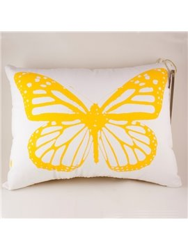 Concise Style Beautiful Butterfly Pattern Throw Pillow