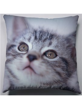 Fashion Creative Daze Gray Cat Pattern Throw Pillow