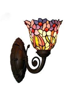 Traditional Artistic Delicate Tiffany with 1 Light Wall Light