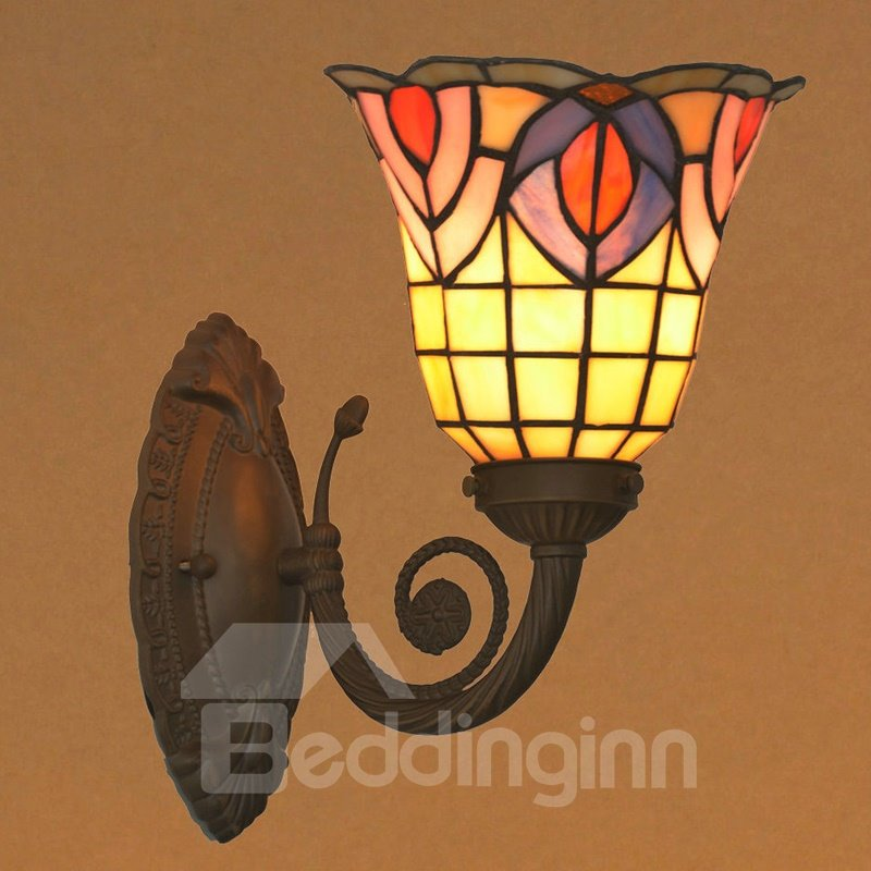 Baroque Style Deluxe with 1 Light Art Tiffany Wall Lights