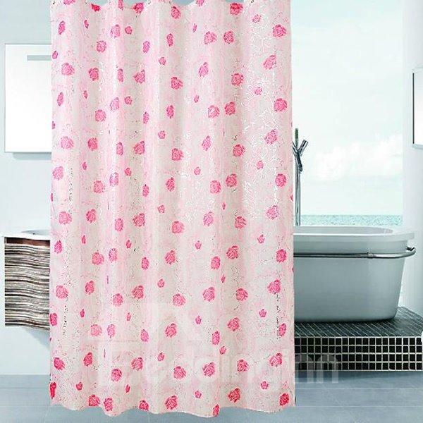 Romantic Rose Print High Quality Shower Curtain