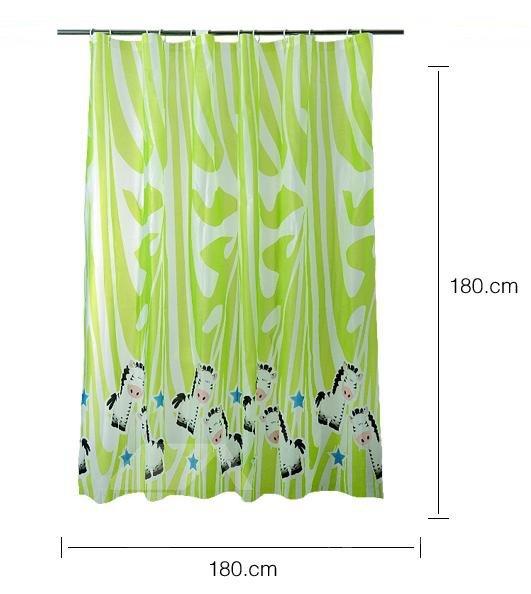 Cute Cartoon Horse Pattern Graceful Shower Curtain
