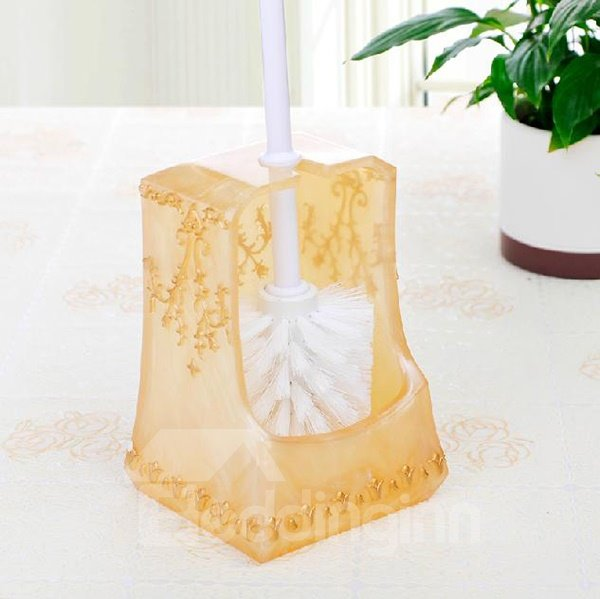 Creative Pretty Resin Golden Toilet Brush Holder