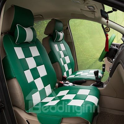 Fashion Shining Bright Color Pattern White Squares Soft Car Seat Cover