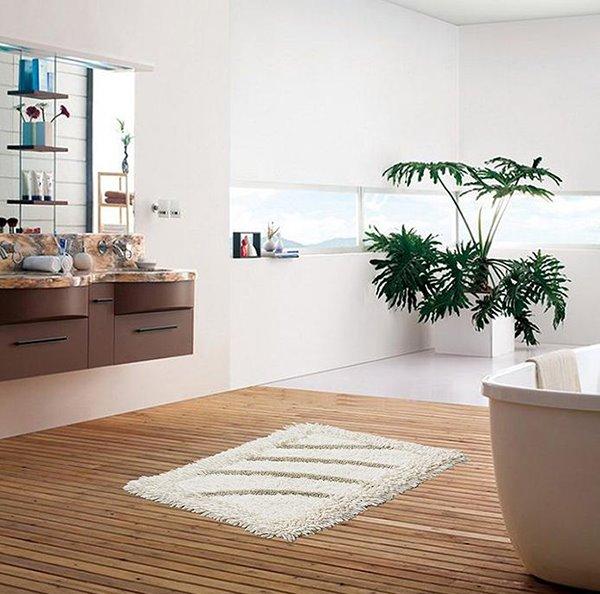 High Quality Solid Color  Contemporary Bath Rug
