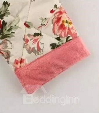 Graceful Beautiful Floral Print Female Cotton Bathrobe