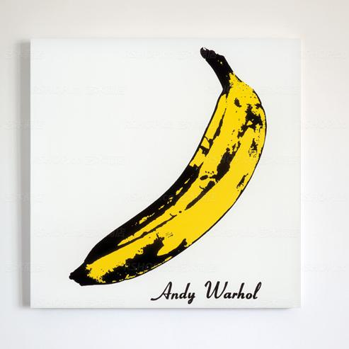 Wonderful Andy Warhol Banana Pattern Wall Art Print